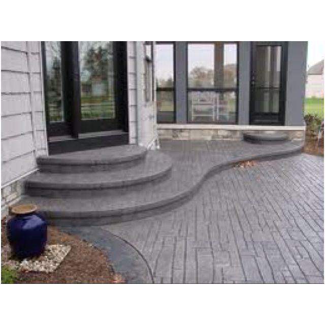 Patio Stairs, Concrete Patio