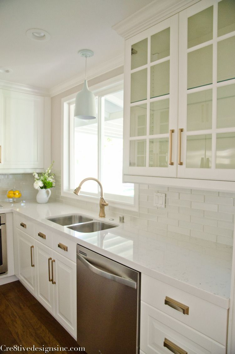 Kitchen remodel using Ikea cabinets Counter tops are white quartz cashmere a less expensive and more durable option than Carrera marble & Kitchen remodel using Ikea cabinets Counter tops are white quartz ...