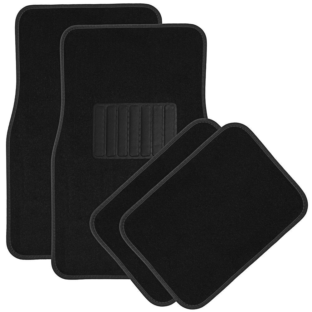 Details About Car Floor Mats For Auto 4pc Carpet Semi Custom Fit Heavy Duty W Heel Pad Black In 2020 Best Car Floor Mats Black Carpet Car Floor Mats