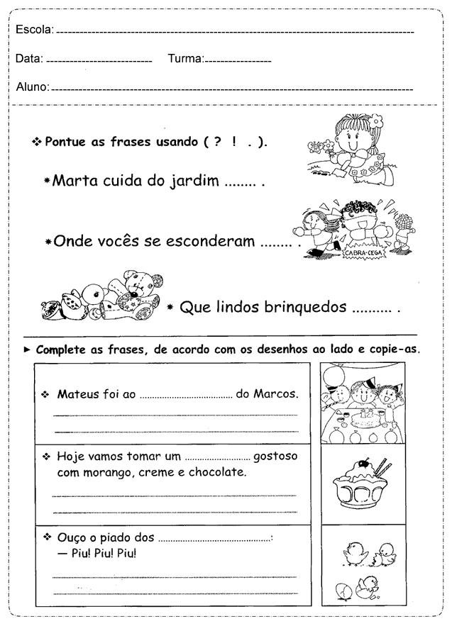 Conhecido Sinais de Pontuação - Atividades de Português 3º ano – Educação e  QX29
