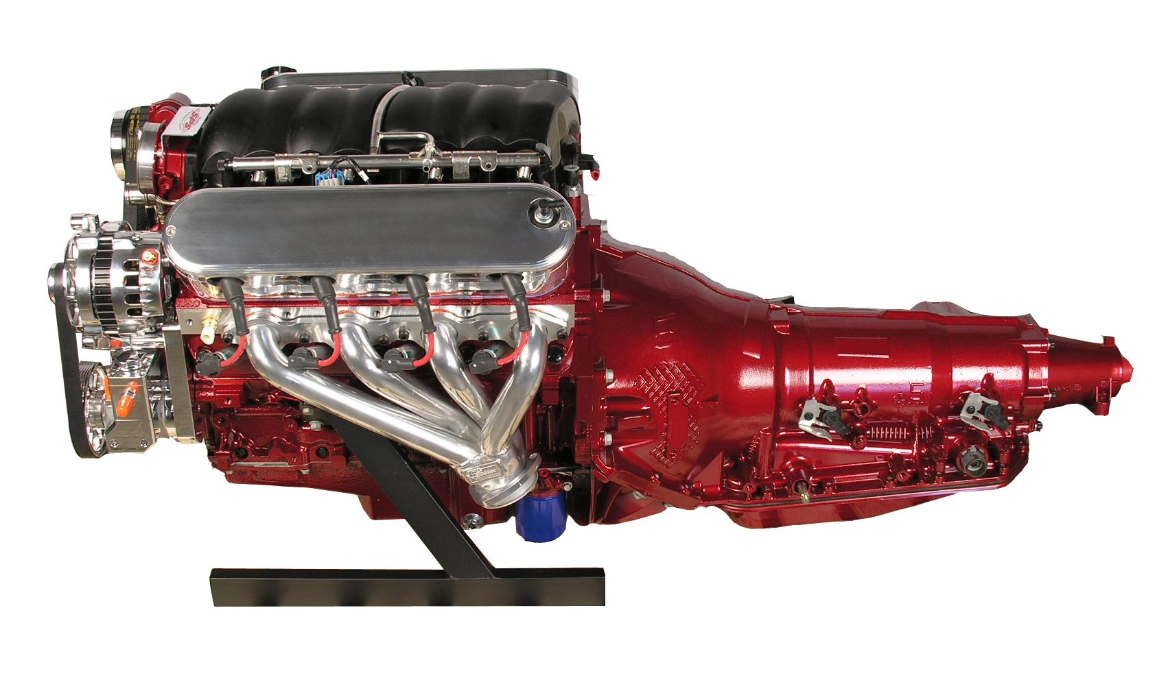 Ls3 Engine With 4l80e Transmission 480 Hp Deep Red Paint