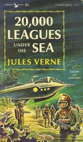 Twenty Thousand Leagues Under The Sea 1870 By Jules Verne With Captain Nemo Science Fiction Adventure Books Science Fiction