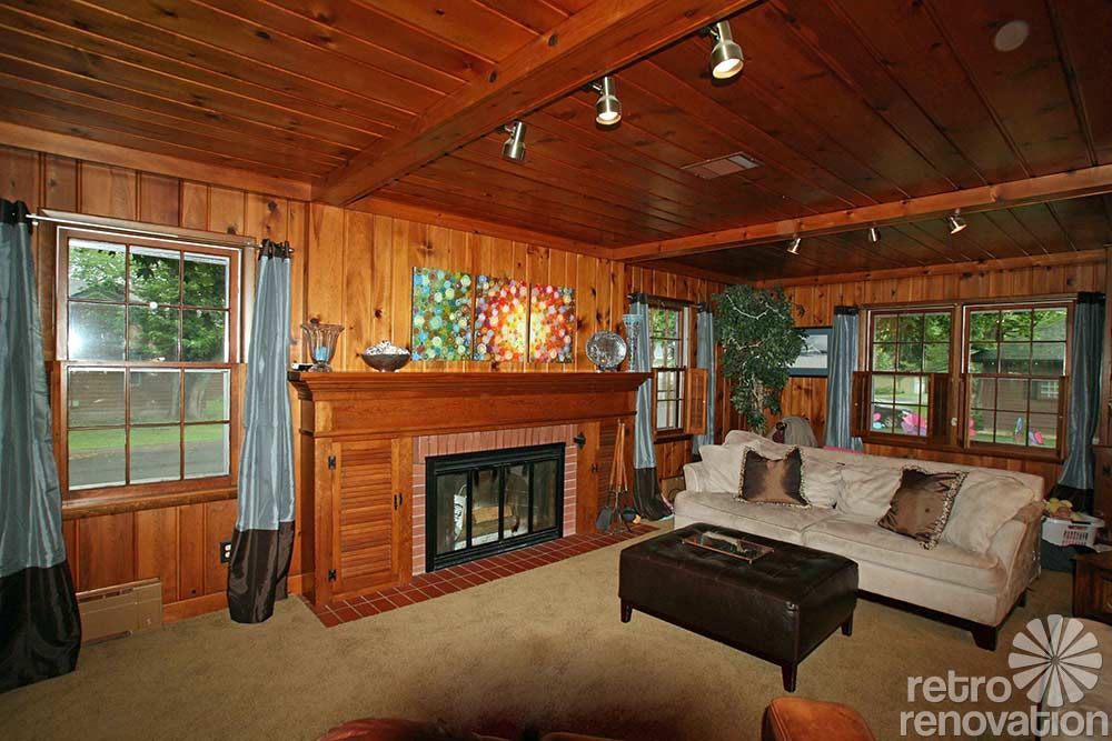 6 Ideas To Decorate A Knotty Pine Room In Classic Retro