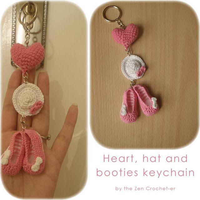 The Zen Crocheter: Hat and booties crochet keychain
