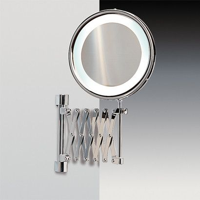 Wall Mounted Extendable Magnifying Mirror Lighted Magnifying Makeup Mirror Makeup Mirror With Lights Magnifying Mirror