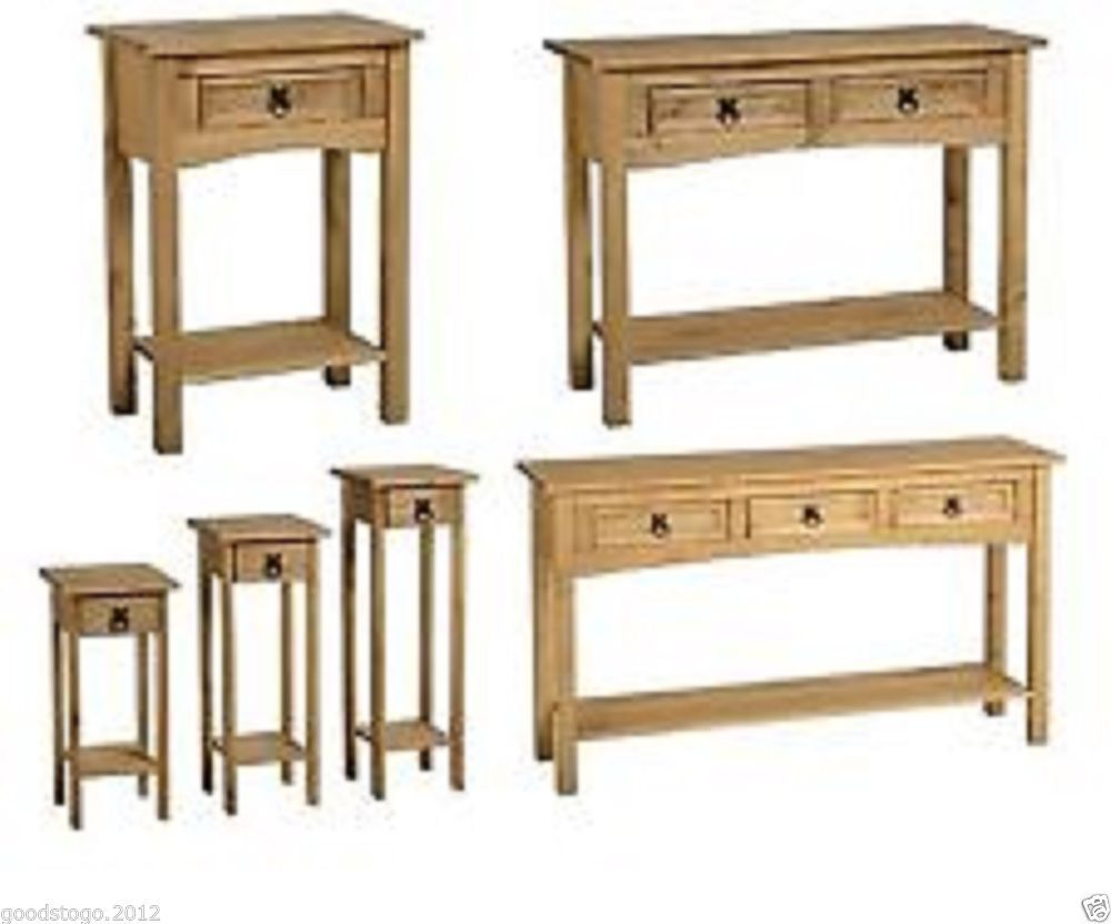 Details About New Corona Mexican Pine Hall Console Table With