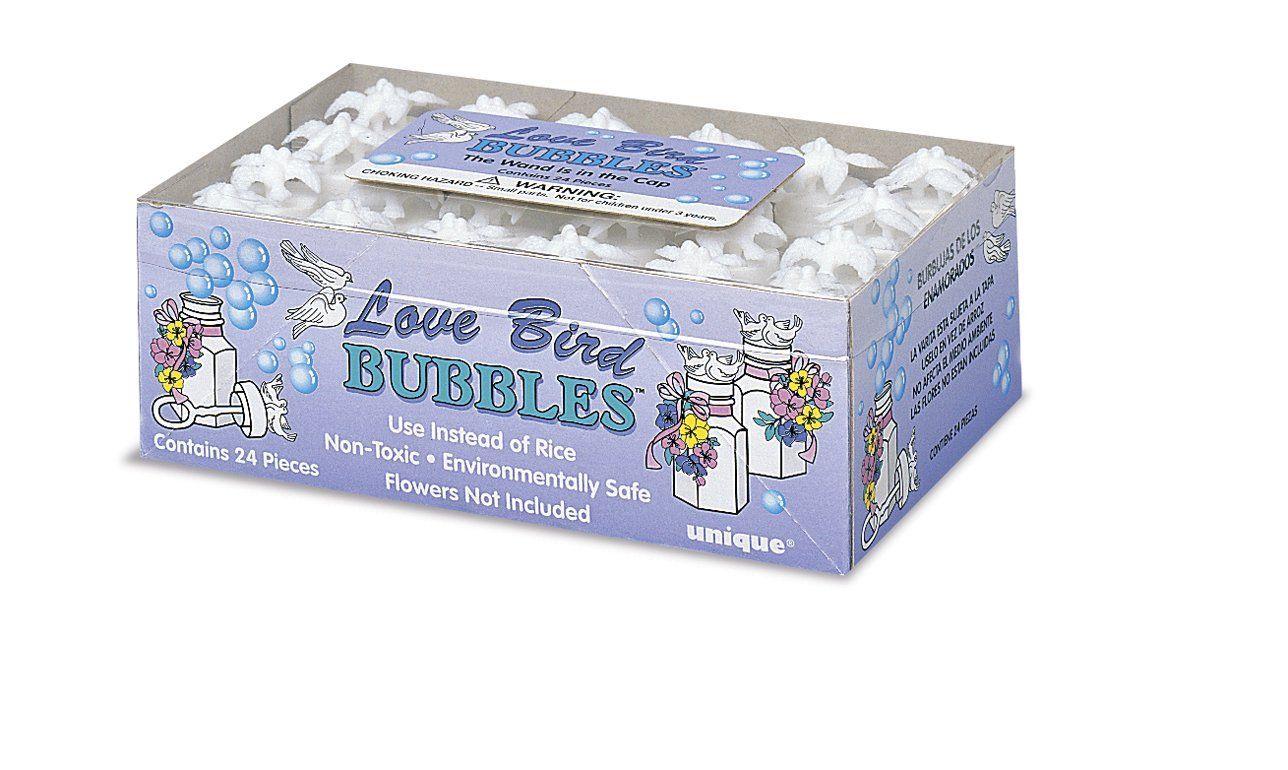 Amazon.com: Love Bird Wedding Bubble Bottle Favors, 24ct: Kitchen ...