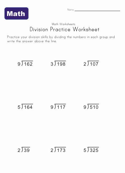 Division Practice Worksheet Division Practice Division Worksheets Practices Worksheets Number chart worksheets long division