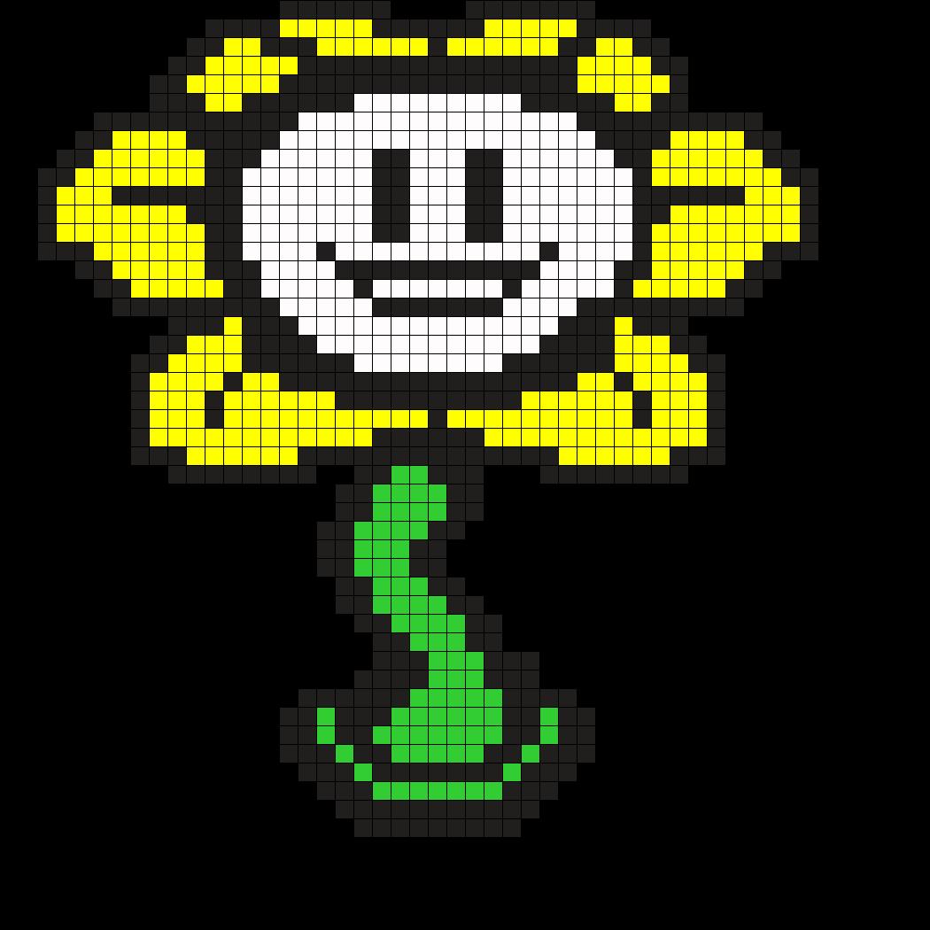 Flowey Undertale Perler Bead Pattern | Pixel Grids | Pinterest ...
