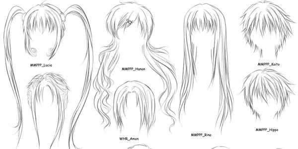 Collection Of Anime And Manga Tutorials Ninja Crunch Ponytail Drawing How To Draw Anime Hair Manga Hair