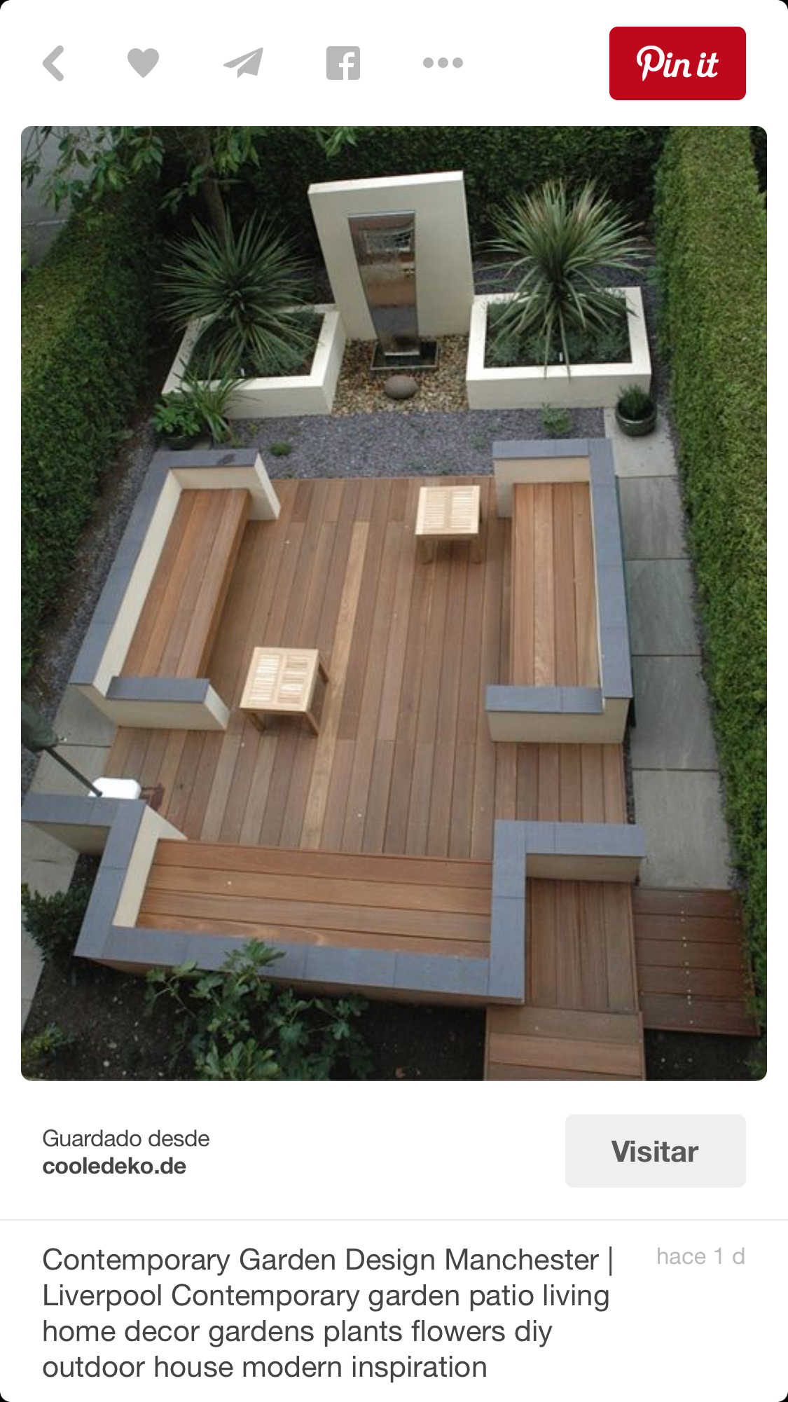 I like the combo of wood, white & gray | Gardens & Outdoor Design ...