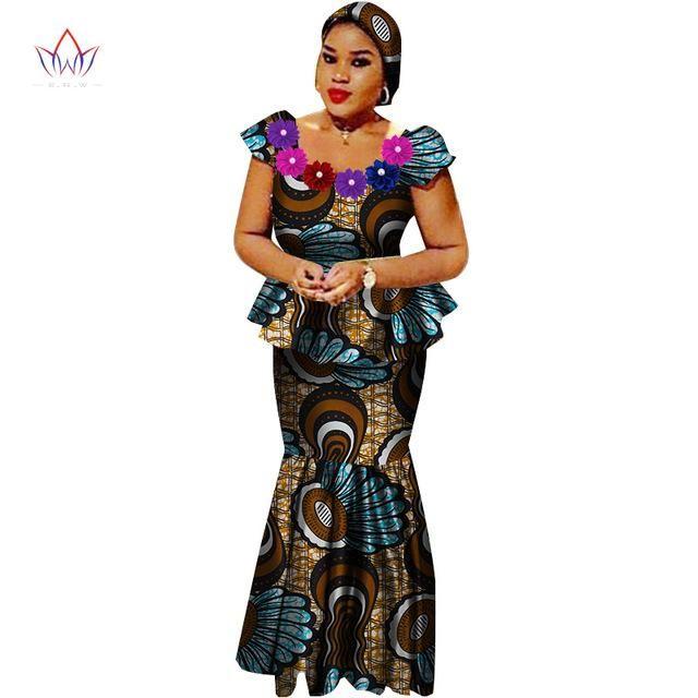 81ddd3f57d5 African Women High Waist Long Skirt African Dress Plus Size – Owame