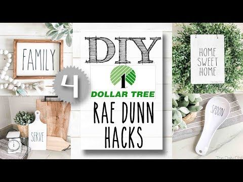DIY Dollar Tree Rae Dunn Hacks | 4 PROJECTS! - YouTube #dollartreecrafts