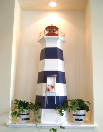 Idea for lighthouse decor for 4th of july lighthouse for Bathroom decor lighthouse