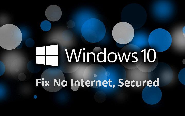 How to fix no secured wifi problem in windows