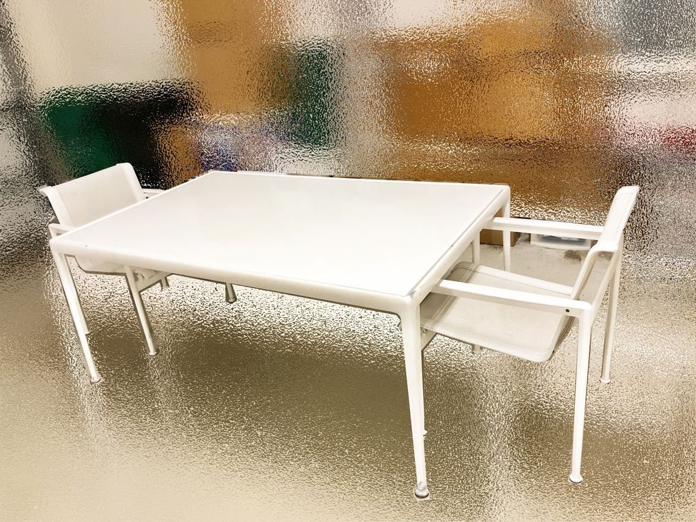 Knoll Richard Schultz 1966 Dining Table 60 X 38 White 2 Dining