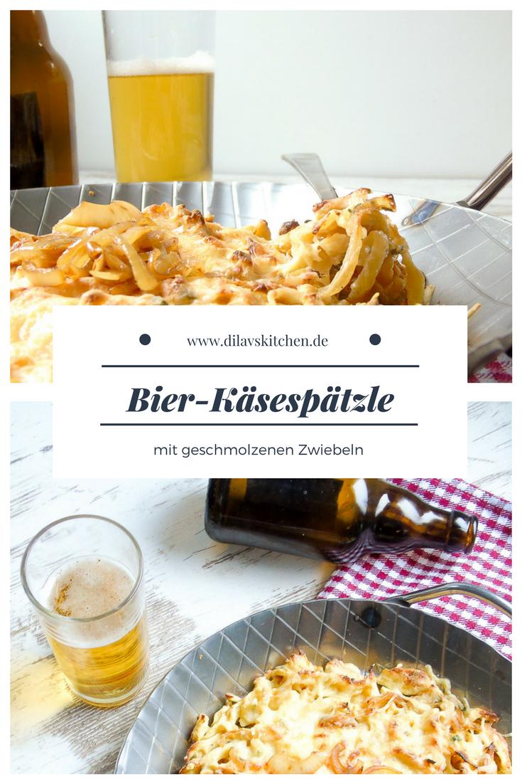 Bier-Käsespätzle mit geschmolzenen Zwiebeln