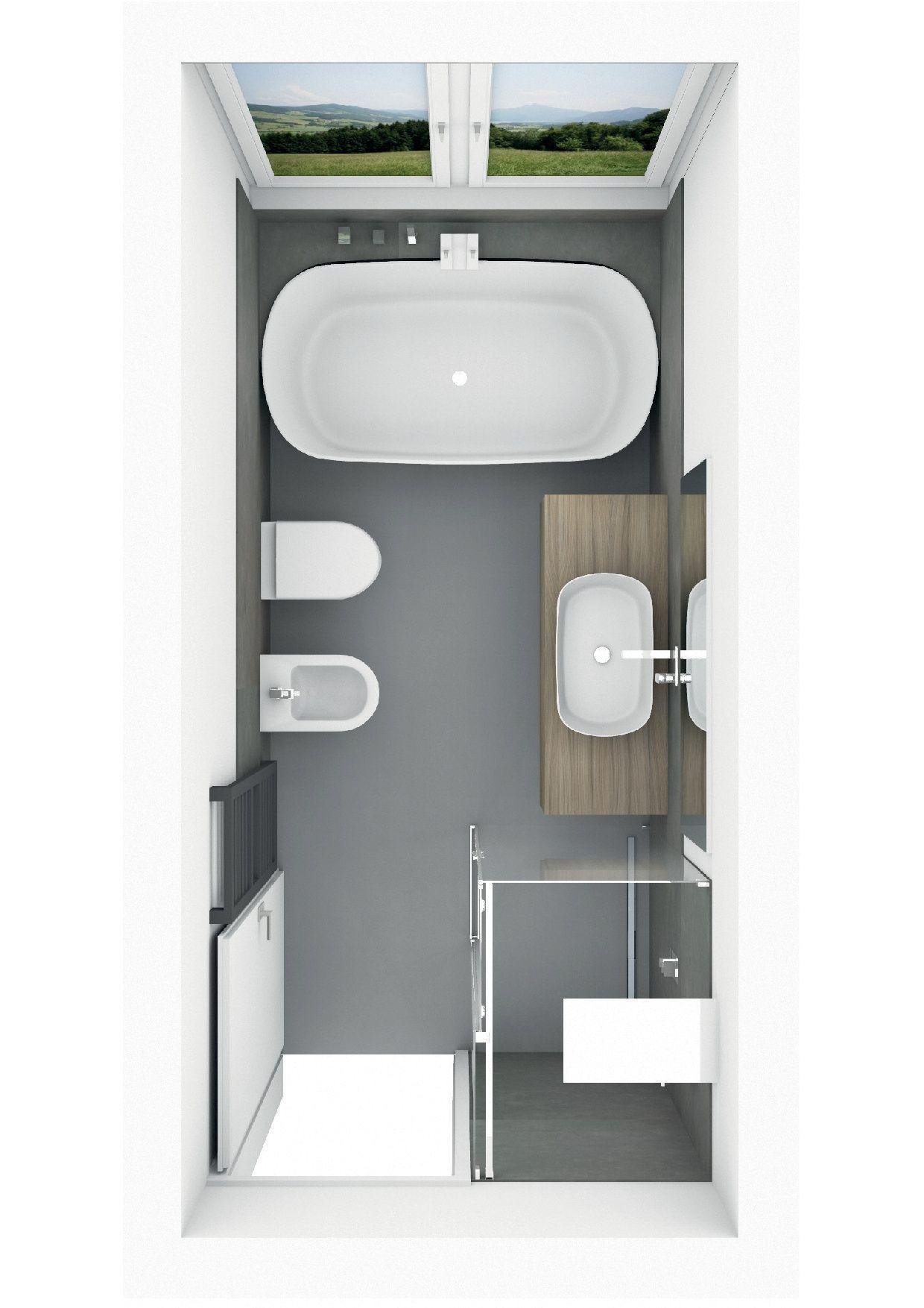Zen Bathroom Decor Badplanung Mit Freistehender Badewanne Mit Ablage Ablage Badewanne In 2020 Bathroom With Shower And Bath Bathroom Design Small Bathroom Interior