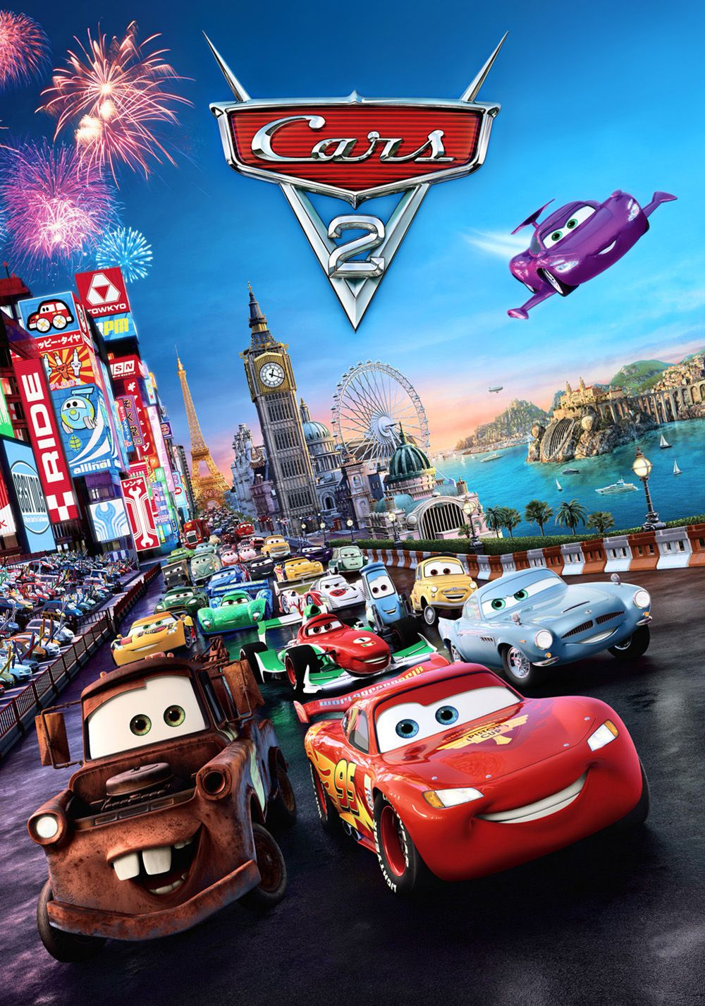 Cars 2 (2011) Going where no car has gone before