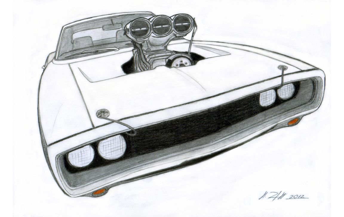 Printable coloring pages dodge charger - Dodge Charger Drawings 1970 Dodge Charger R T Drawing By Vertualissimo On Deviantart