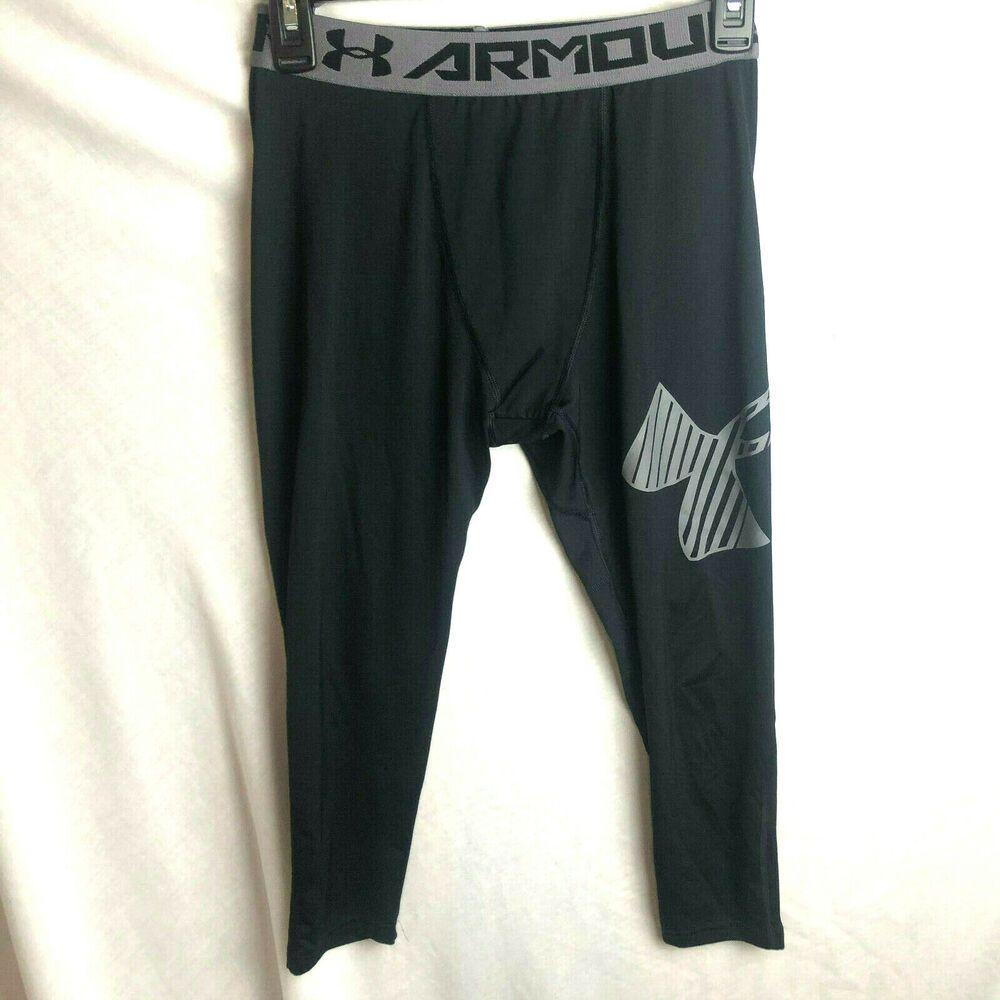 Under Armour Boys 3//4 Logo Legging