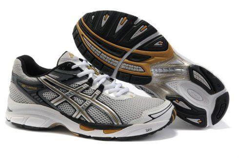 Men Asics Gel Virage 4 Shoes White Silver Yellow For Mens