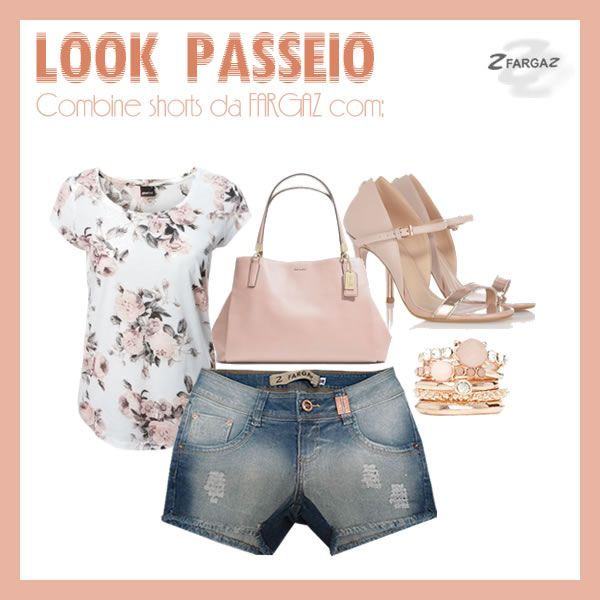 Look Passeio com shorts da FARGAZ