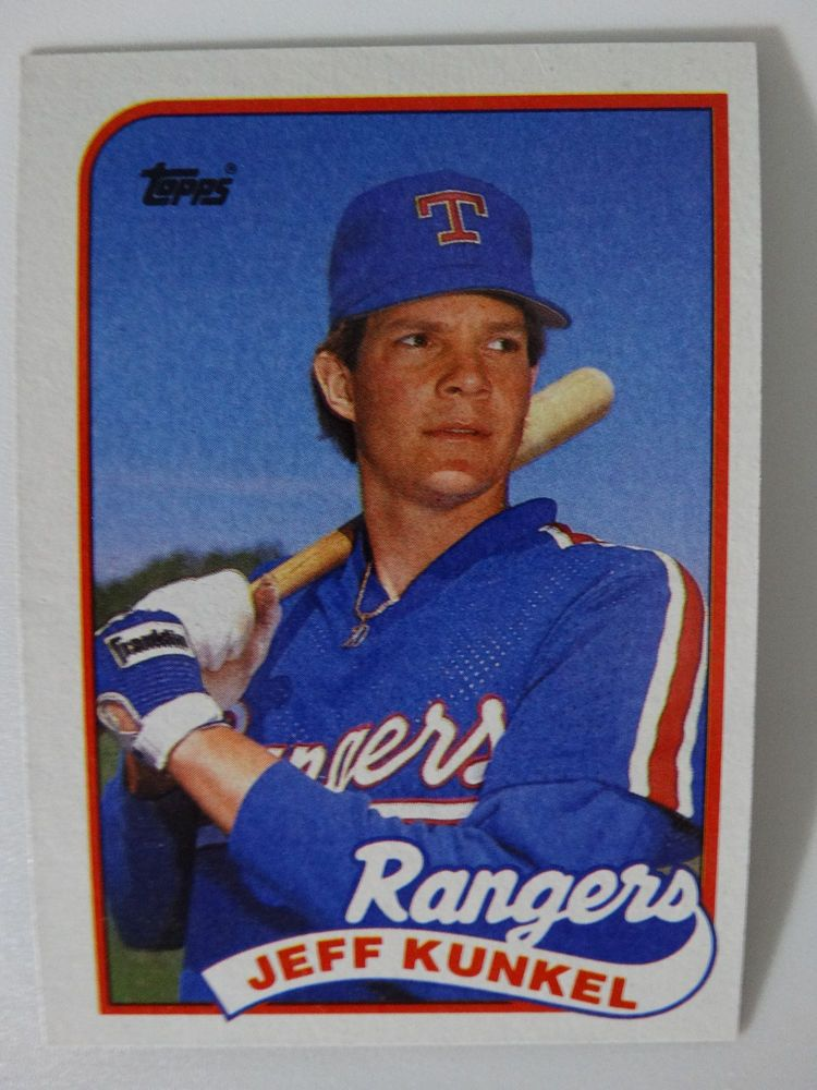 Details About 1989 Topps Jeff Kunkel Texas Rangers Wrong