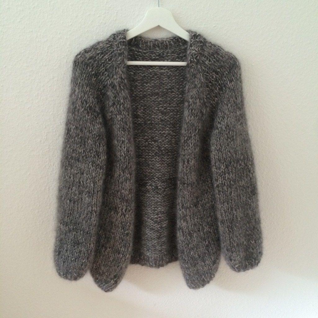 Oversize Strickjacke aus Mohair | Stricken, Handarbeiten und Jacken
