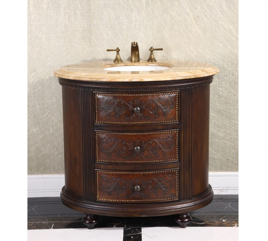 36 Inch Single Sink Bathroom Vanity With Choice Of Countertop