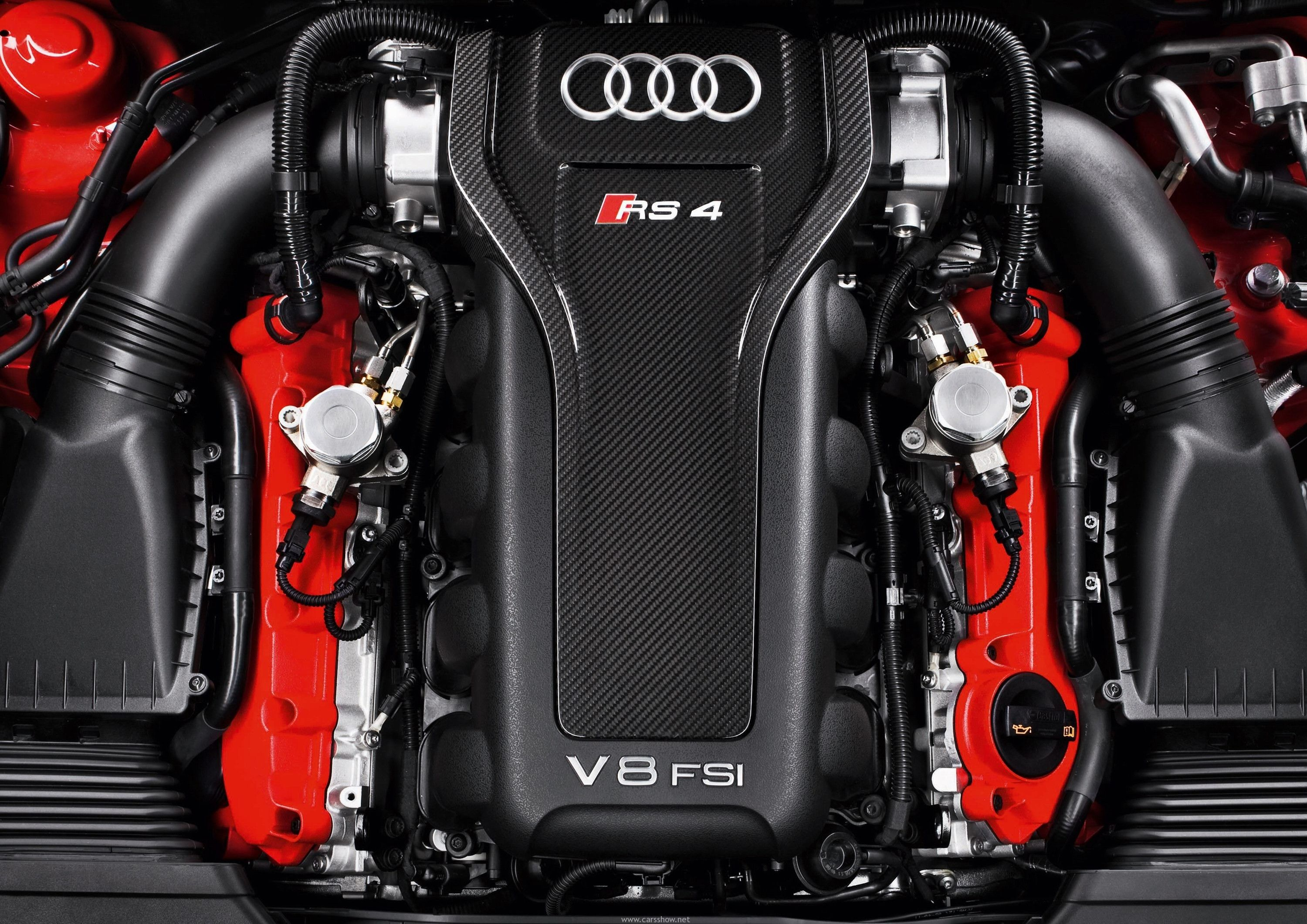 2012 Audi Rs4 Avant Engine Bay Car Wallpapers Free Download