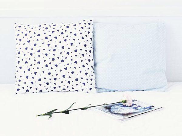 DIY-Anleitung: Einfachen Kissenbezug ohne Reißverschluss und Knöpfe nähen via DaWanda.com