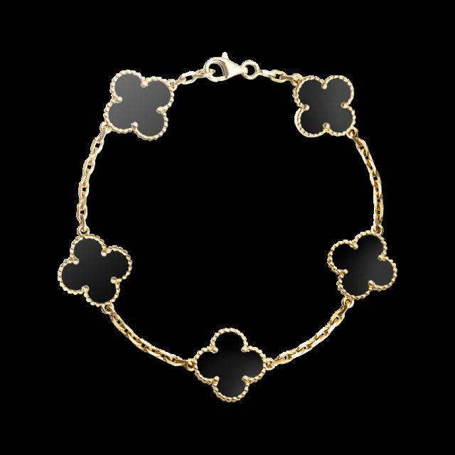 Van Cleef & Arpels alhambra bracelet, $4,000, vancleefarpels.com - TownandCountryMag.com