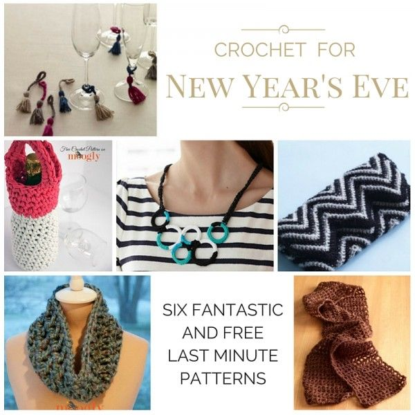 6 Fantastic Last Minute Crochet Patterns for New Year\'s Eve!