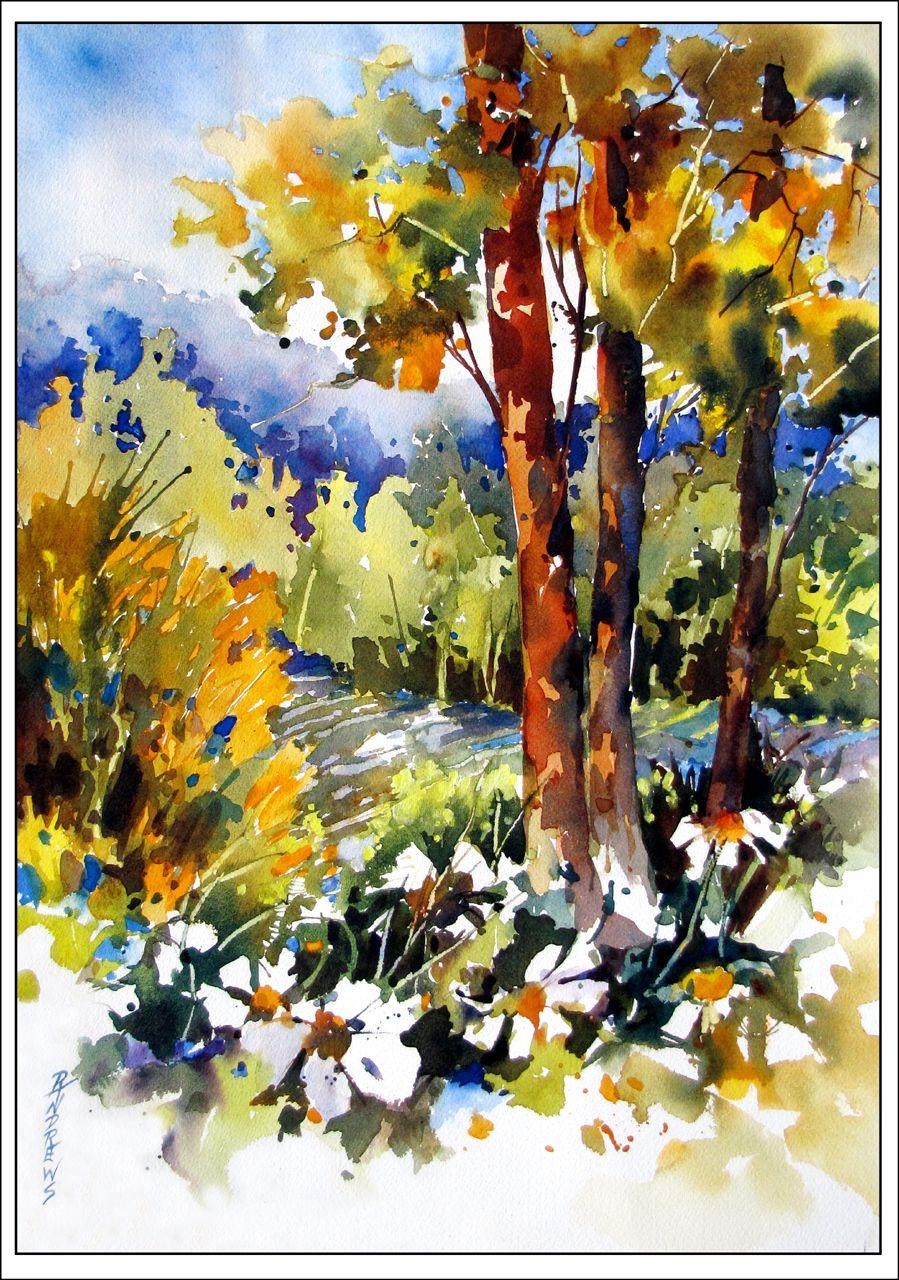 Watercolor artists in texas - Watercolor Artists International Contemporary Fine Art International Blue Haze Over The Hills