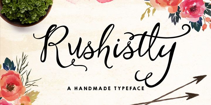 Rushistly Script Font Free Download Script Typeface Brush