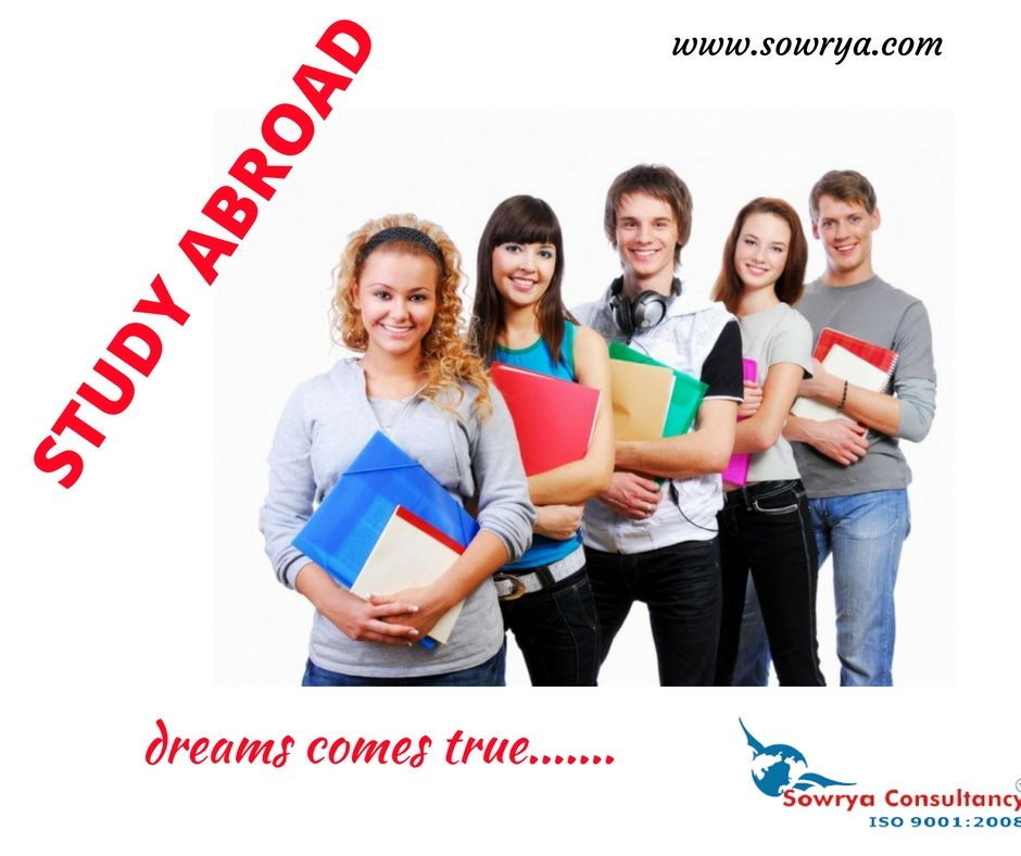 Study in Abroad contact sowrya consultancy