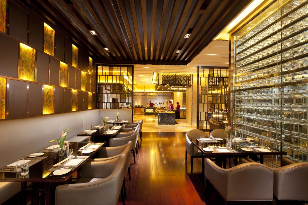 Hilton hotel restaurant interior design in singapore
