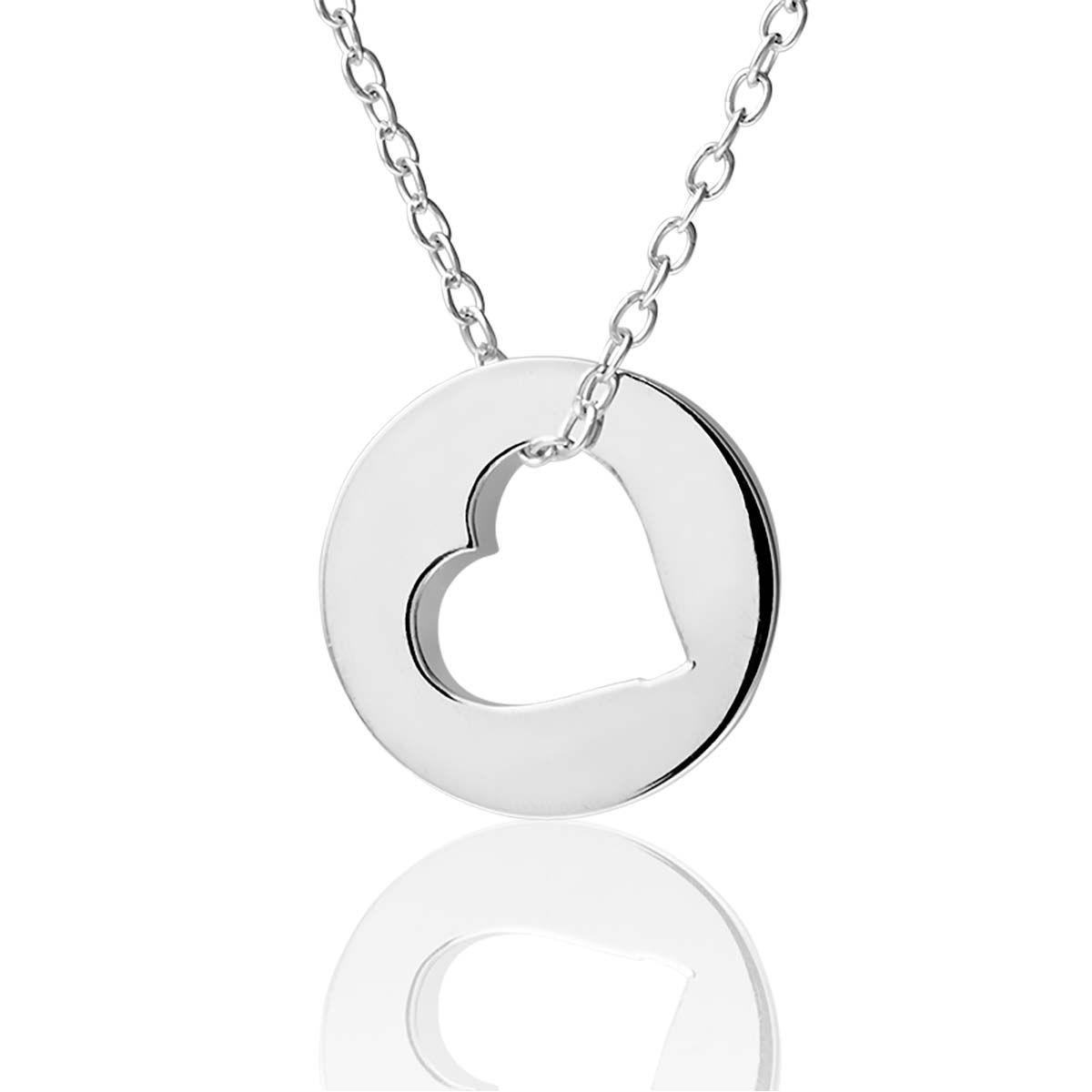 collier coeur argent cleor