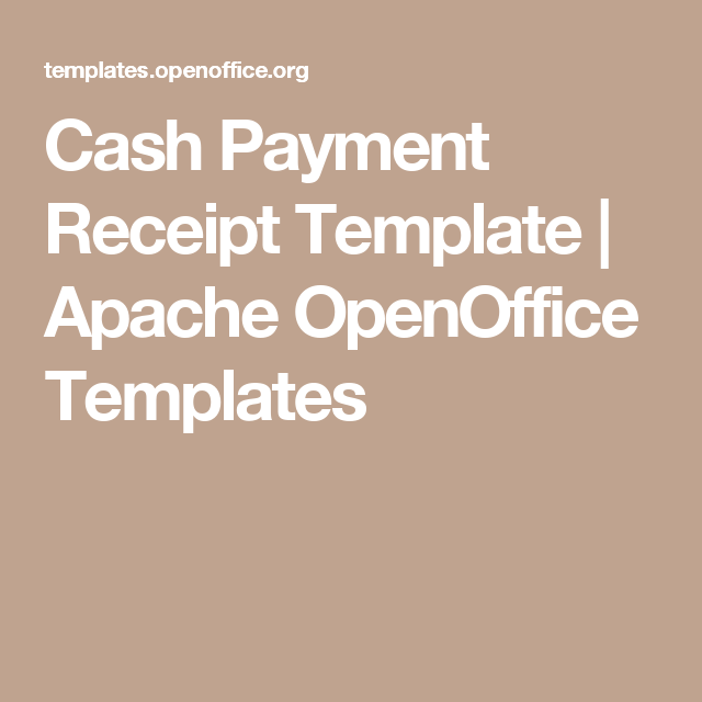 Cash Payment Receipt Template Apache Openoffice Templates Tax