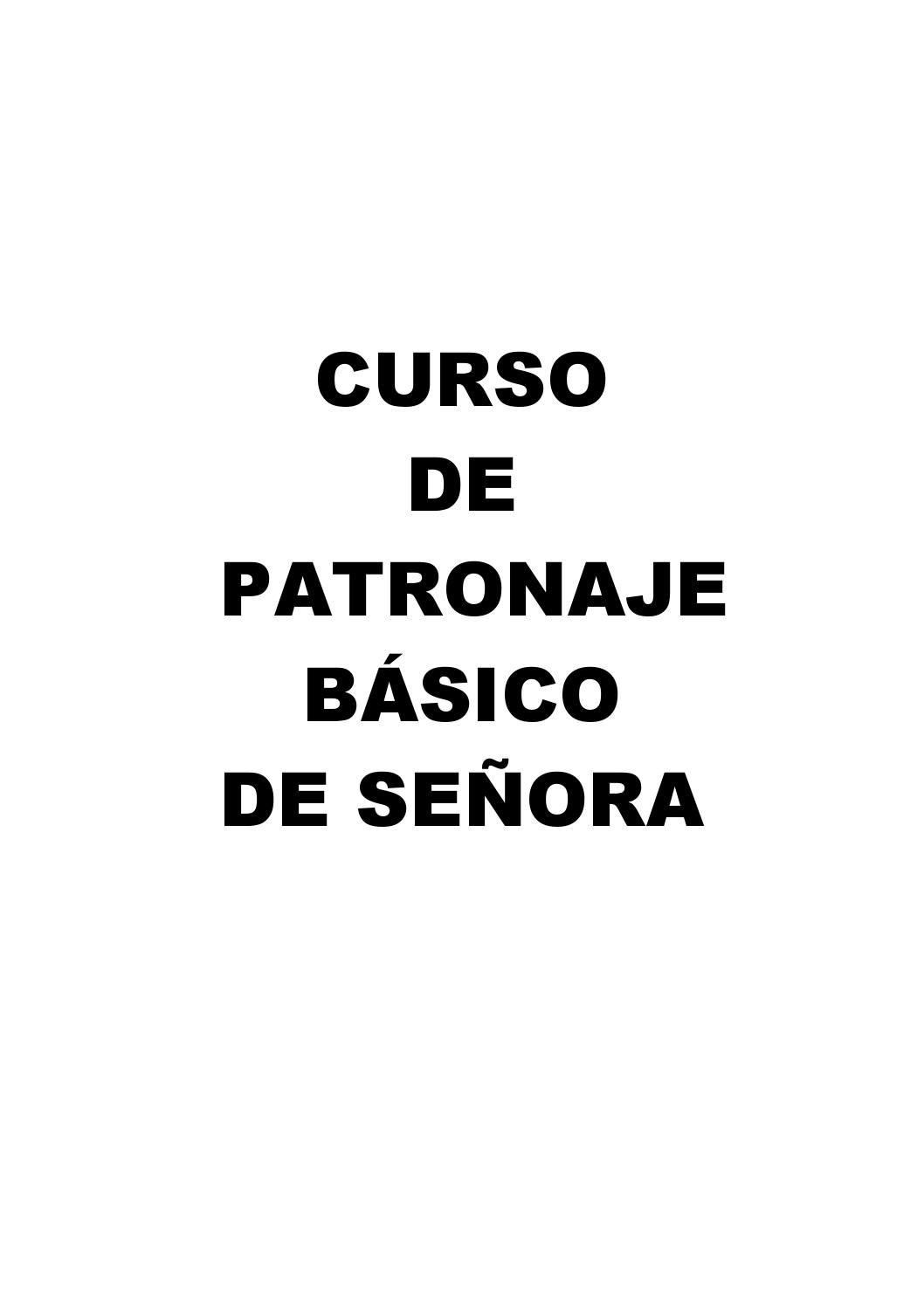 269565894 patronaje basico senora 1 patrones costura | costura ...