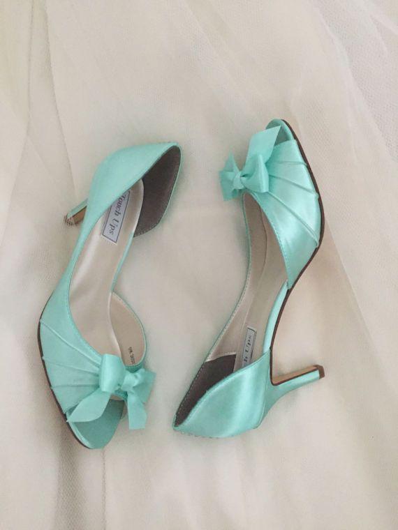 Scarpe Da Sposa Verde Tiffany.Matrimonio Aqua Blue Scarpe Da Sposa Aqua Blu Wedding Saltos Estilo