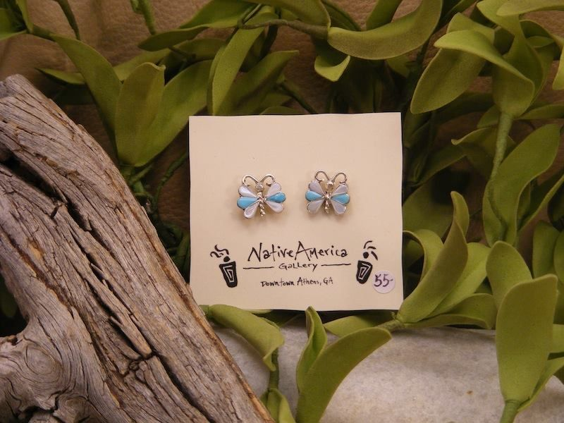 Gorgeous Turquoise and Mother of Pearl Butterfly Earrings... #Butterflies are quite magical and beautiful creatures, aren't they?