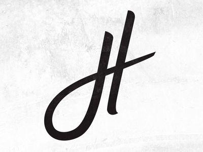 Cursive Letter H Cursive Letters Letter H Design Lettering Design