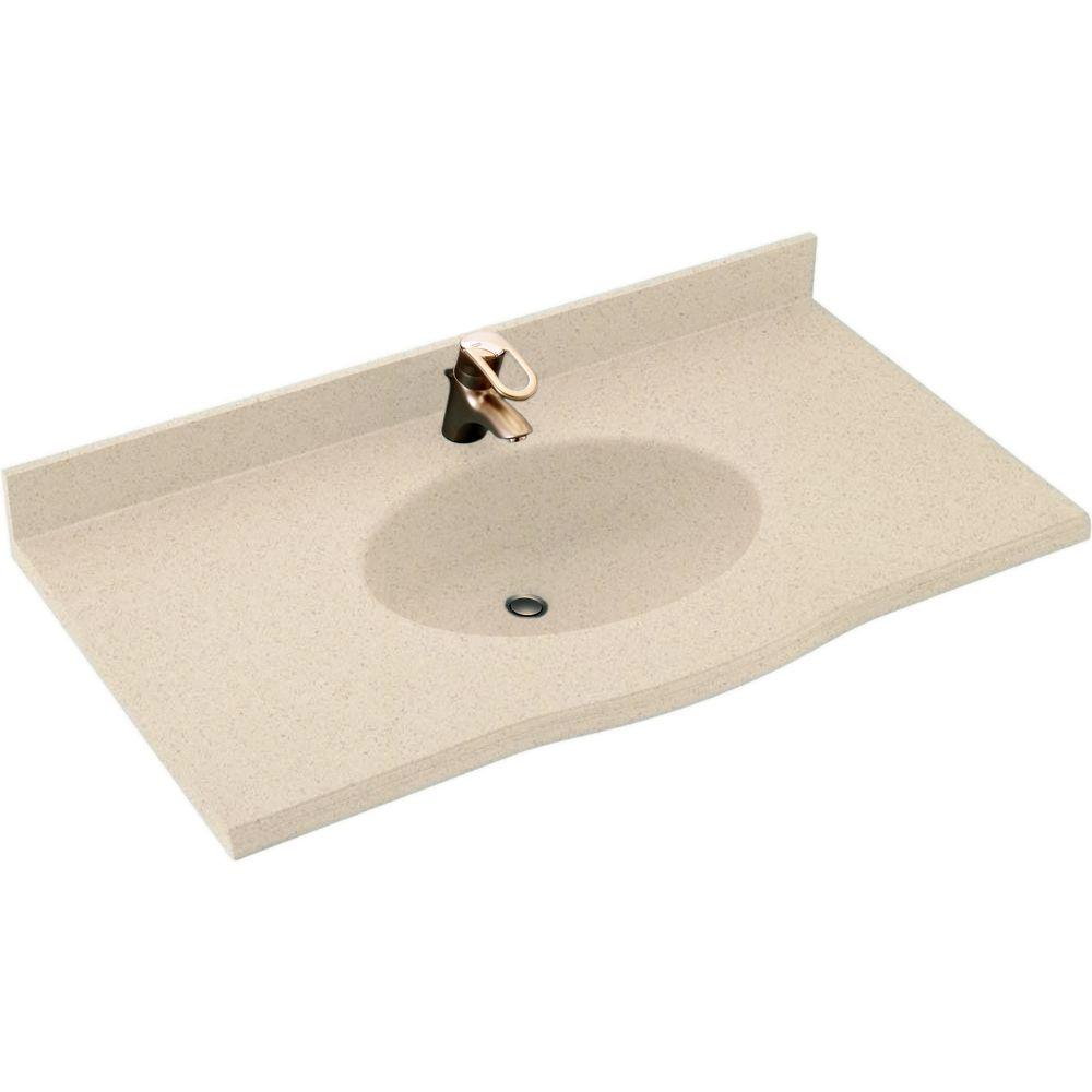 Swan Europa 43 In W X 22 5 In D Solid Surface Vanity Top With