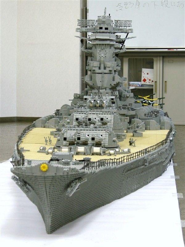 Lego Battleship Yamato Is Biggest Lego Ship Ever Lego Military