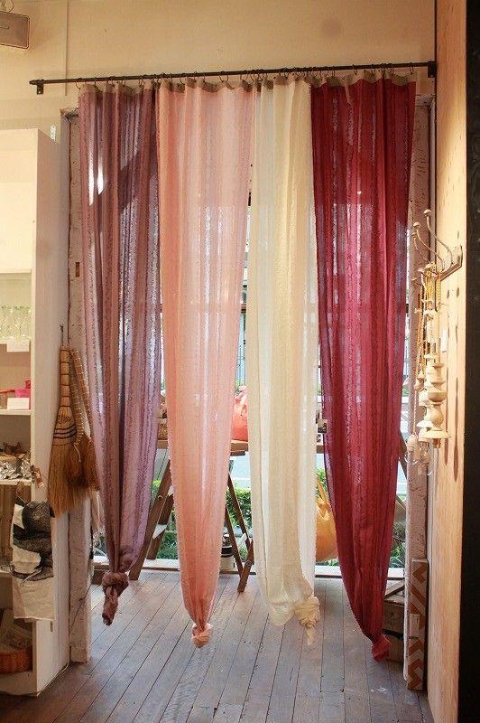 Curtains voile muslin textiles para el hogar for Cortinas marroquies