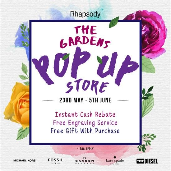 23-May-5 Jun 2016: Rhapsody The Garden Pop Up Store Special Promotion