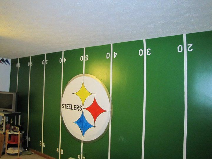 Pittsburgh steelers rooms wo man caves on pinterest for Colts bedroom ideas