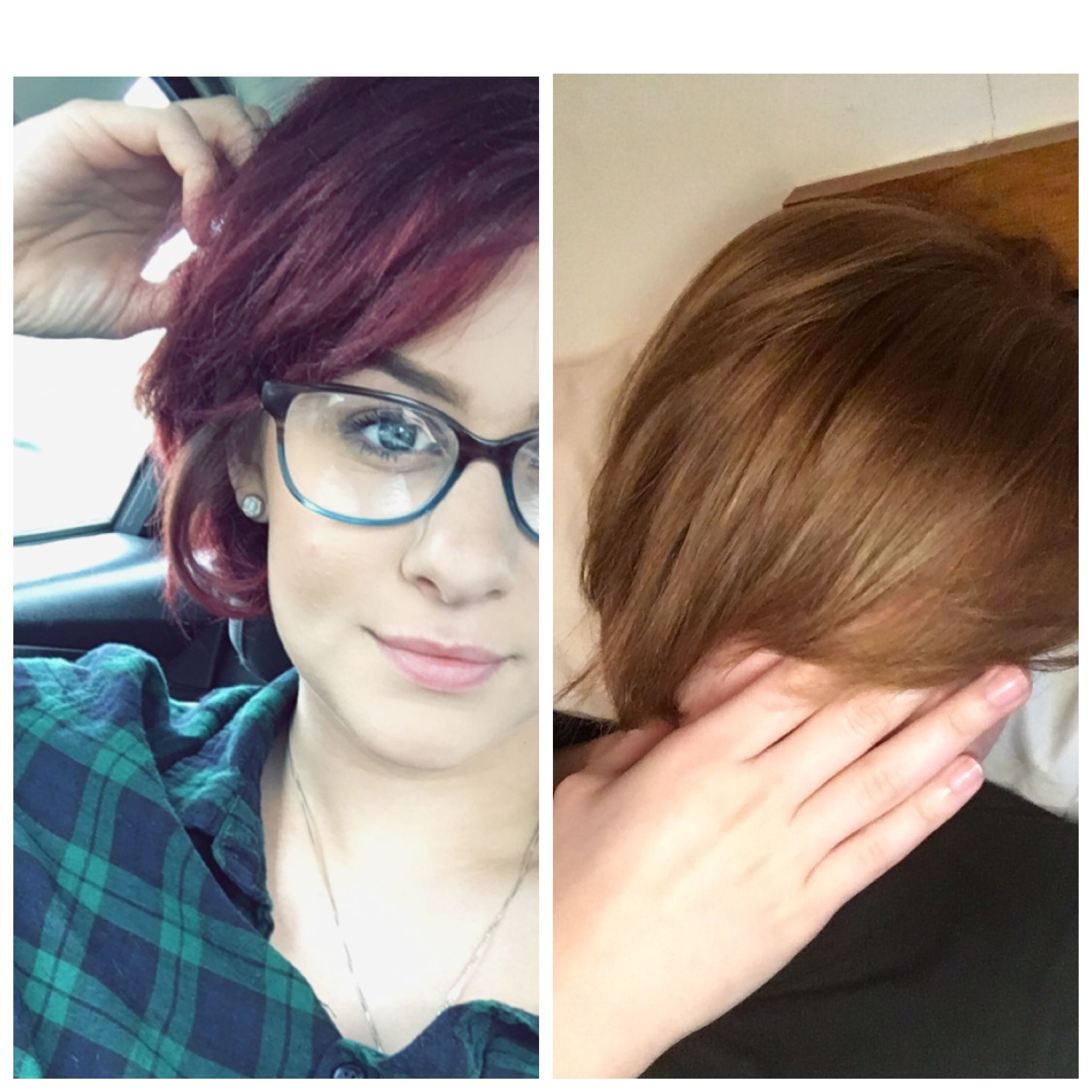 Color Oops Before And After Removal Of Red And Brown Dye Build Up
